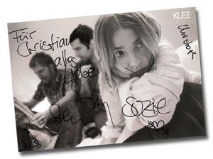 Klee Autogrammkarte